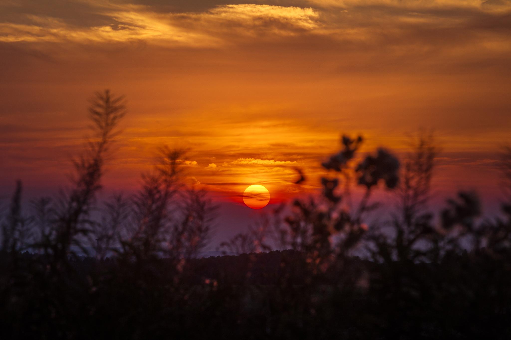 26|08|2016 – Sonnenuntergang über dem Westerwald