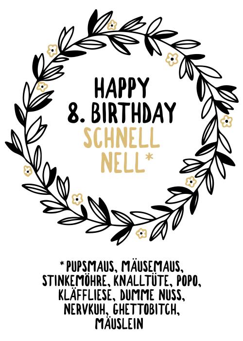 Unserer Border Collie Hündin Nell zum achten Geburtstag