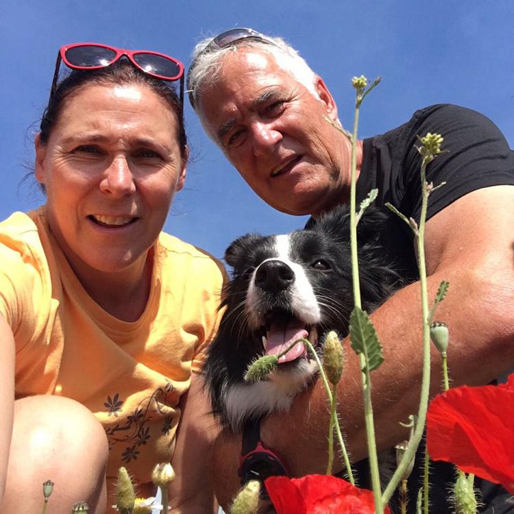 Selfie des Monats: Ursula und Peter und ihre Fly (Broadmeadows Cornflake Girl)
