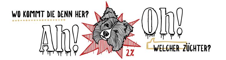 Hundeausstellung Border Collie Dogshow Illustration