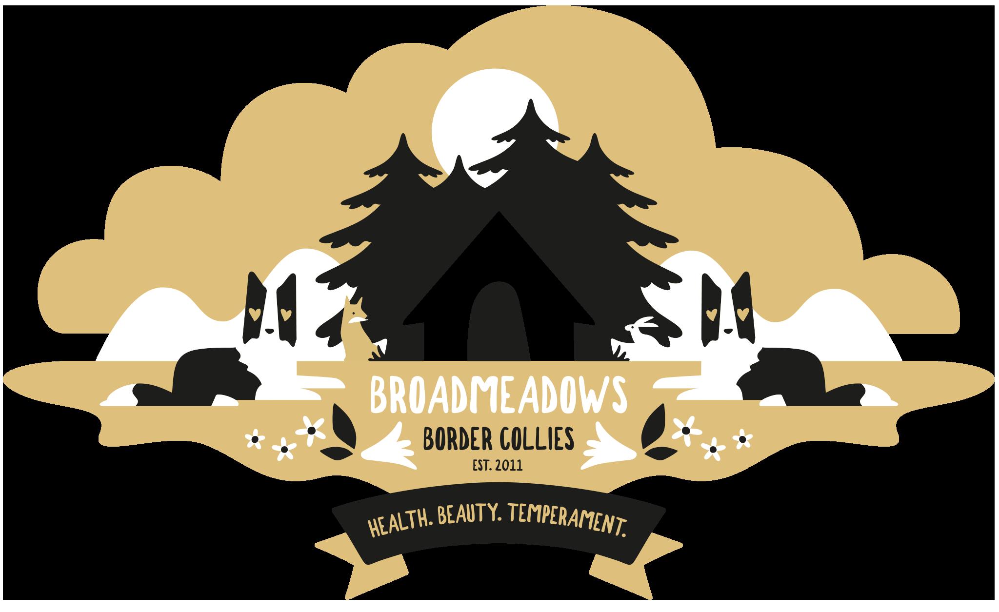 Logo Broadmeadows Border Collie Zucht, 2021