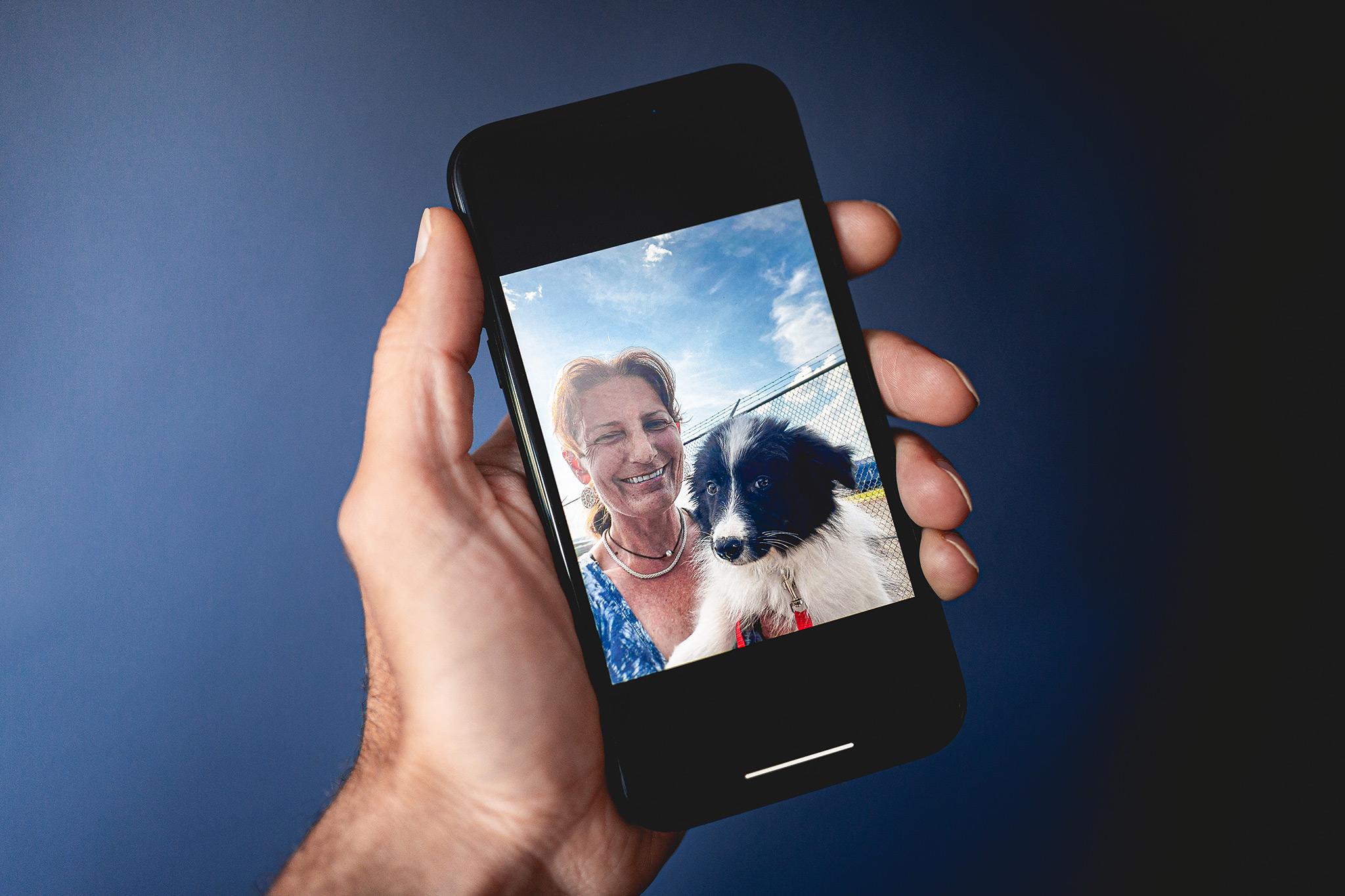 08|06|2021 – Gut angekommen: das erste gemeinsame Selfie von Kathy und Ruffian